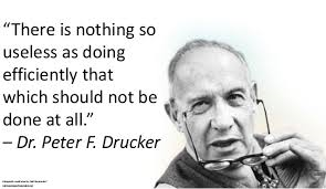Peter Drucker on efficiency
